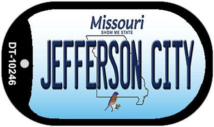 Jefferson City Missouri Novelty Metal Dog Tag Necklace DT-10246