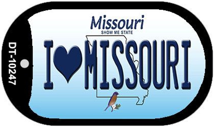 I Love Missouri Novelty Metal Dog Tag Necklace DT-10247