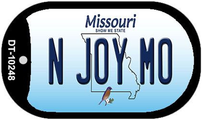 N Joy MO Missouri Novelty Metal Dog Tag Necklace DT-10248