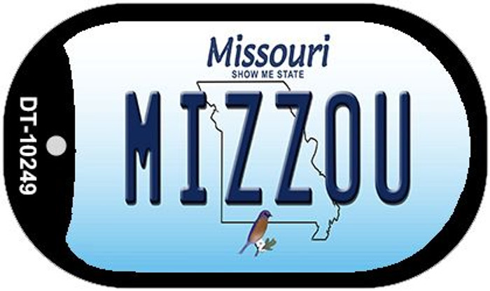 Mizzou Missouri Novelty Metal Dog Tag Necklace DT-10249