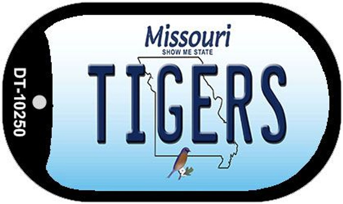 Tigers Missouri Novelty Metal Dog Tag Necklace DT-10250
