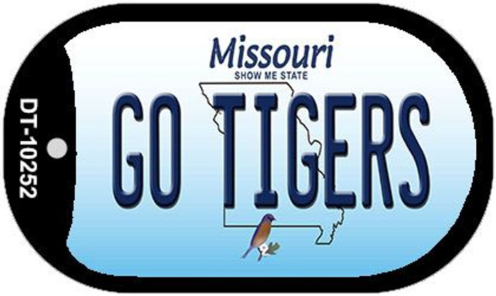 Go Tigers Missouri Novelty Metal Dog Tag Necklace DT-10252