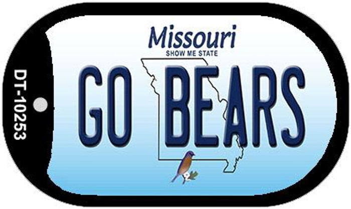 Go Bears Missouri Novelty Metal Dog Tag Necklace DT-10253