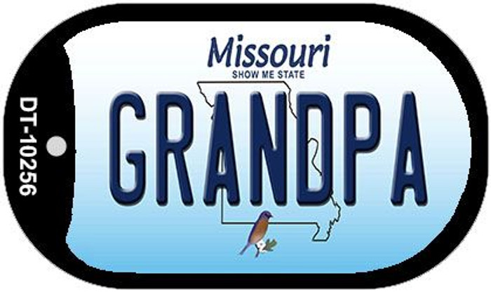 Grandpa Missouri Novelty Metal Dog Tag Necklace DT-10256