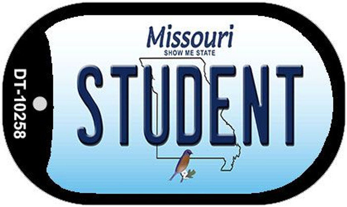 Student Missouri Novelty Metal Dog Tag Necklace DT-10258