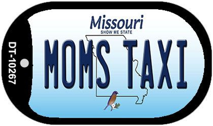 Moms Taxi Missouri Novelty Metal Dog Tag Necklace DT-10267