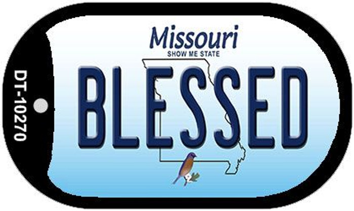 Blessed Missouri Novelty Metal Dog Tag Necklace DT-10270