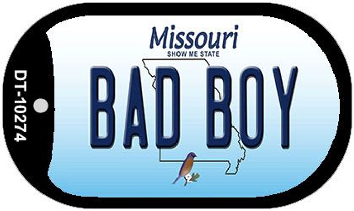 Bad Boy Missouri Novelty Metal Dog Tag Necklace DT-10274