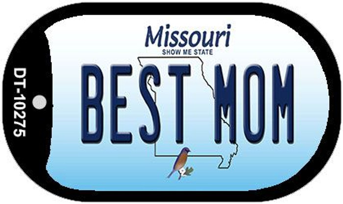 Best Mom Missouri Novelty Metal Dog Tag Necklace DT-10275