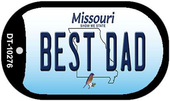 Best Dad Missouri Novelty Metal Dog Tag Necklace DT-10276