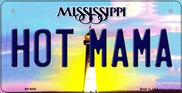 Hot Mama Mississippi Novelty Metal Bicycle Plate BP-6550