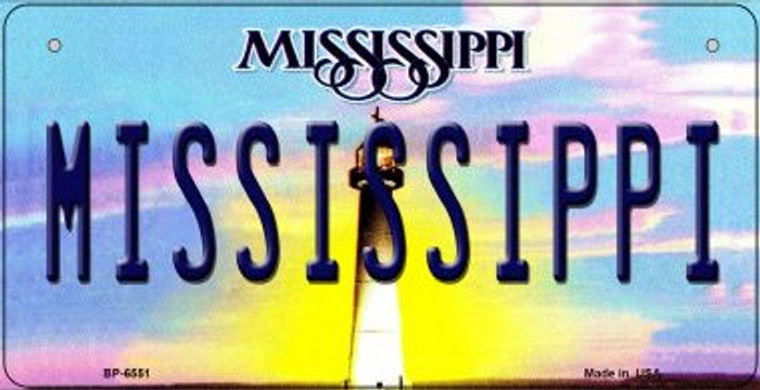 Mississippi Novelty Metal Bicycle Plate BP-6551