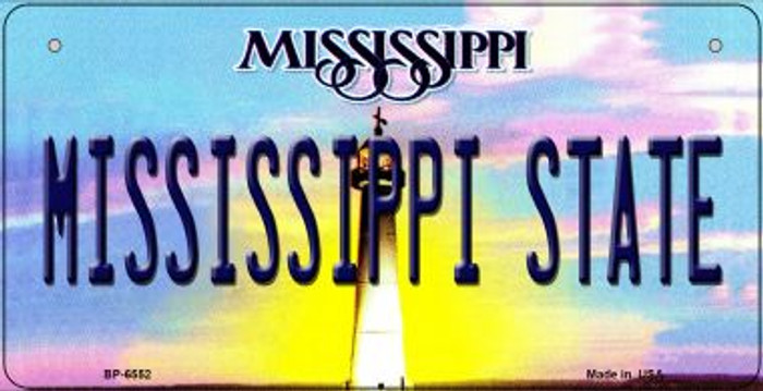 Mississippi State University Novelty Metal Bicycle Plate BP-6552