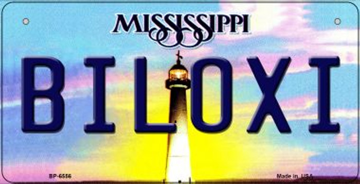Biloxi Mississippi Novelty Metal Bicycle Plate BP-6556