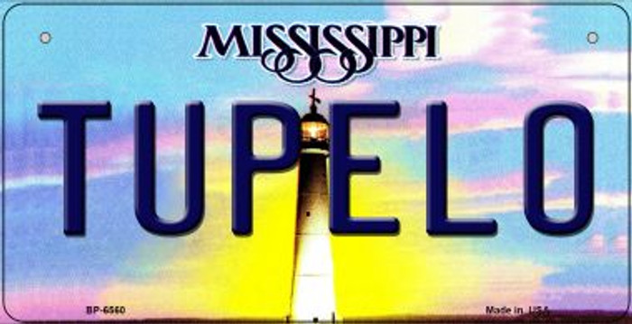 Tupelo Mississippi Novelty Metal Bicycle Plate BP-6560