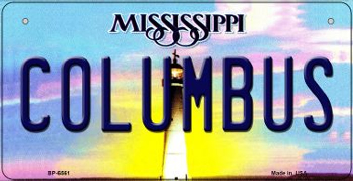 Columbus Mississippi Novelty Metal Bicycle Plate BP-6561