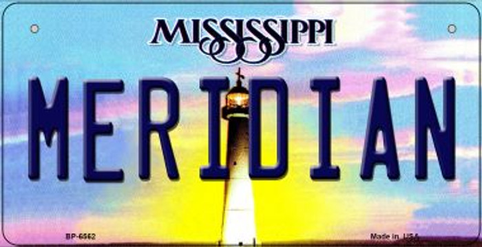 Meridan Mississippi Novelty Metal Bicycle Plate BP-6562
