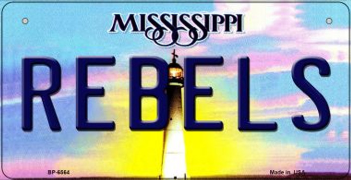 Rebels Mississippi Novelty Metal Bicycle Plate BP-6564