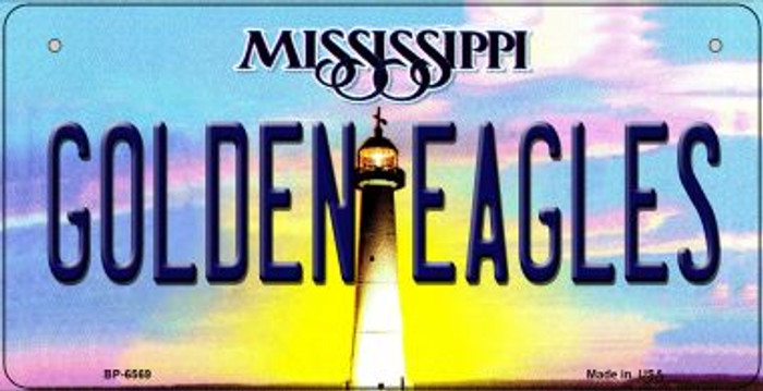 Golden Eagles Mississippi Novelty Metal Bicycle Plate BP-6569