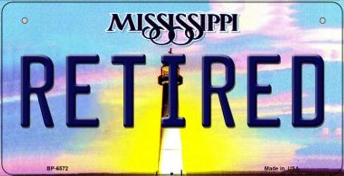 Retired Mississippi Novelty Metal Bicycle Plate BP-6572