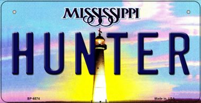 Hunter Mississippi Novelty Metal Bicycle Plate BP-6574