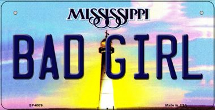 Bad Girl Mississippi Novelty Metal Bicycle Plate BP-6576