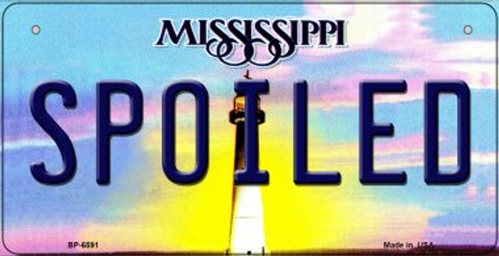 Spoiled Mississippi Novelty Metal Bicycle Plate BP-6591