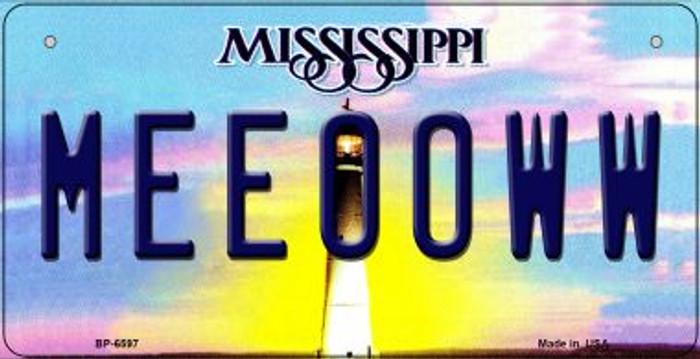 Meeooww Mississippi Novelty Metal Bicycle Plate BP-6597