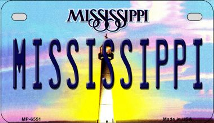 Mississippi Novelty Metal Motorcycle Plate MP-6551