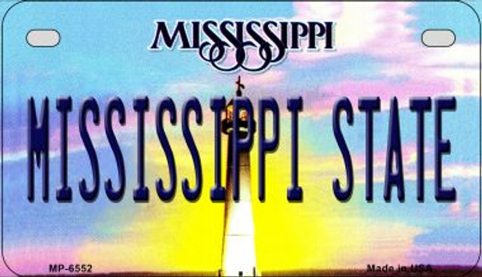 Mississippi State University Novelty Metal Motorcycle Plate MP-6552