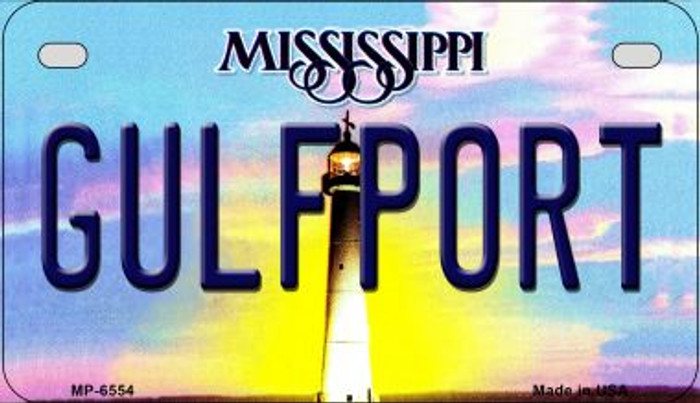 Gulfport Mississippi Novelty Metal Motorcycle Plate MP-6554