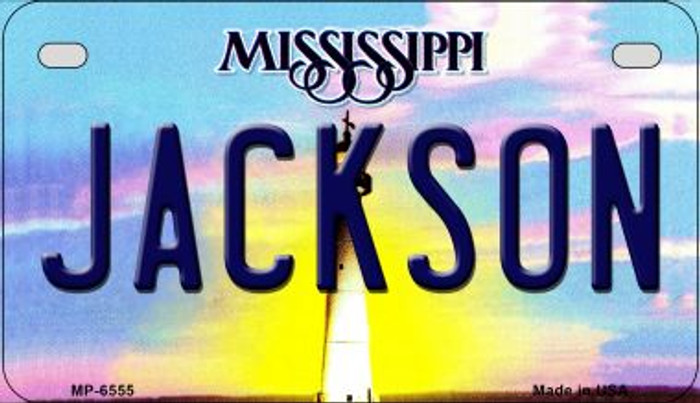 Jackson Mississippi Novelty Metal Motorcycle Plate MP-6555