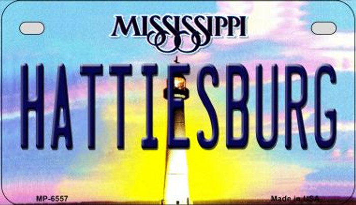 Hattiesburg Mississippi Novelty Metal Motorcycle Plate MP-6557
