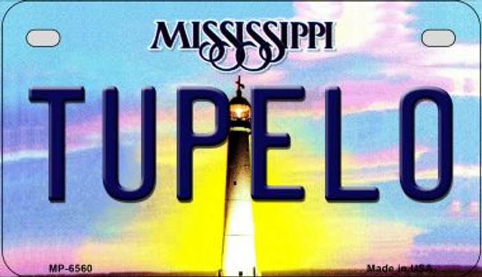 Tupelo Mississippi Novelty Metal Motorcycle Plate MP-6560