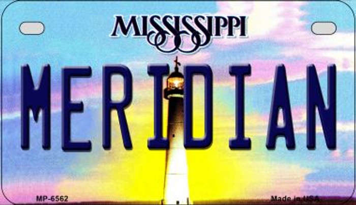 Meridan Mississippi Novelty Metal Motorcycle Plate MP-6562