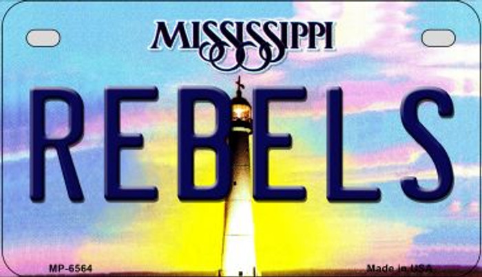 Rebels Mississippi Novelty Metal Motorcycle Plate MP-6564