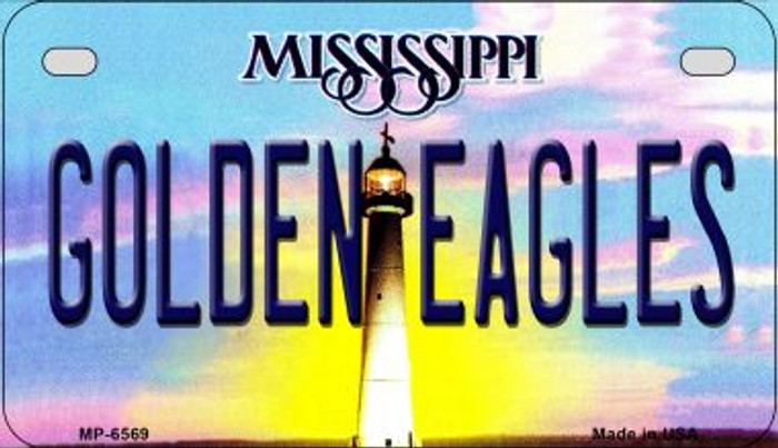 Golden Eagles Mississippi Novelty Metal Motorcycle Plate MP-6569