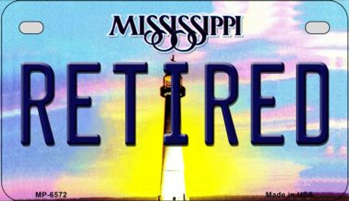 Retired Mississippi Novelty Metal Motorcycle Plate MP-6572