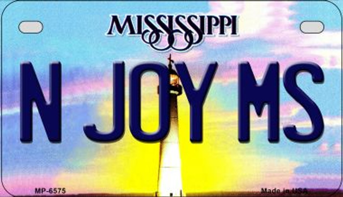 N Joy MS Mississippi Novelty Metal Motorcycle Plate MP-6575