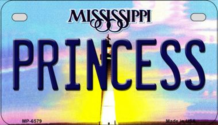 Princess Mississippi Novelty Metal Motorcycle Plate MP-6579