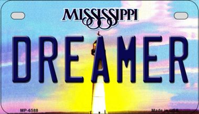 Dreamer Mississippi Novelty Metal Motorcycle Plate MP-6588