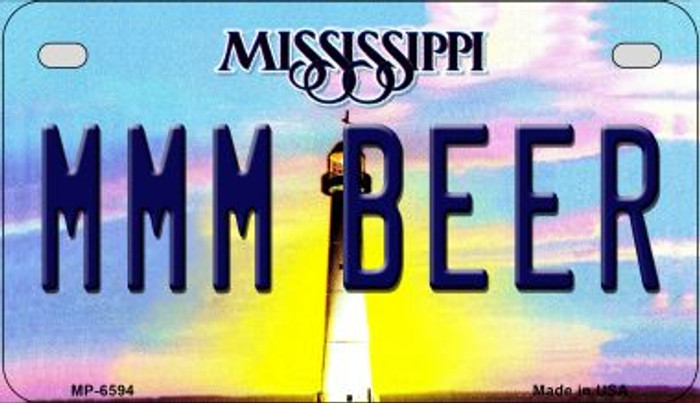 MMM Beer Mississippi Novelty Metal Motorcycle Plate MP-6594