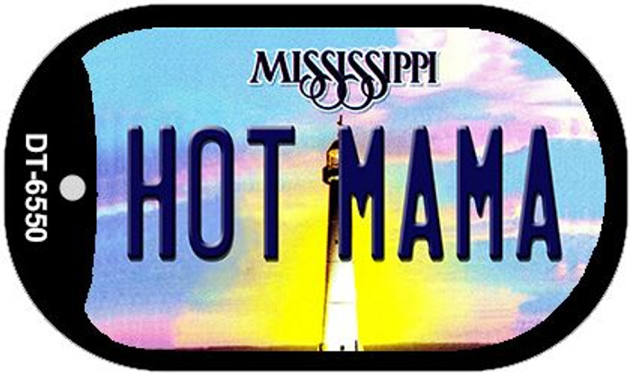 Hot Mama Mississippi Novelty Metal Dog Tag Necklace DT-6550