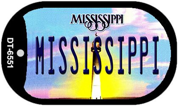 Mississippi Novelty Metal Dog Tag Necklace DT-6551