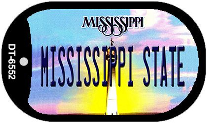 Mississippi State University Novelty Metal Dog Tag Necklace DT-6552