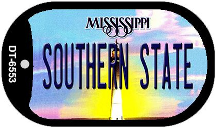 Southern State Mississippi Novelty Metal Dog Tag Necklace DT-6553
