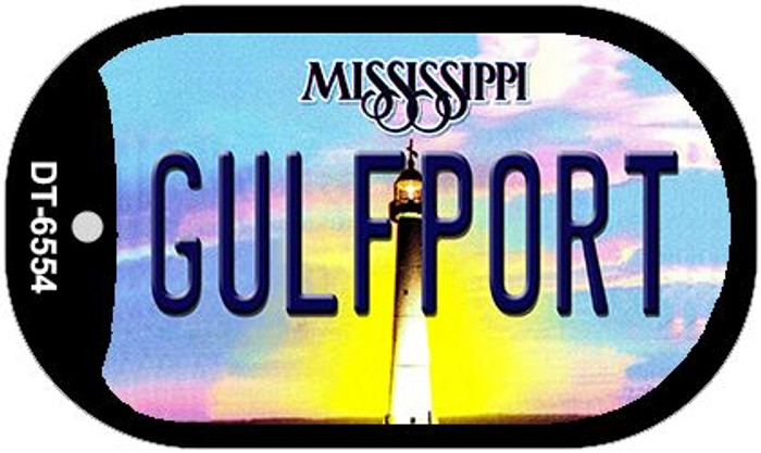 Gulfport Mississippi Novelty Metal Dog Tag Necklace DT-6554