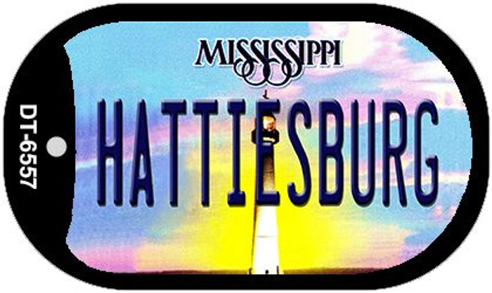 Hattiesburg Mississippi Novelty Metal Dog Tag Necklace DT-6557
