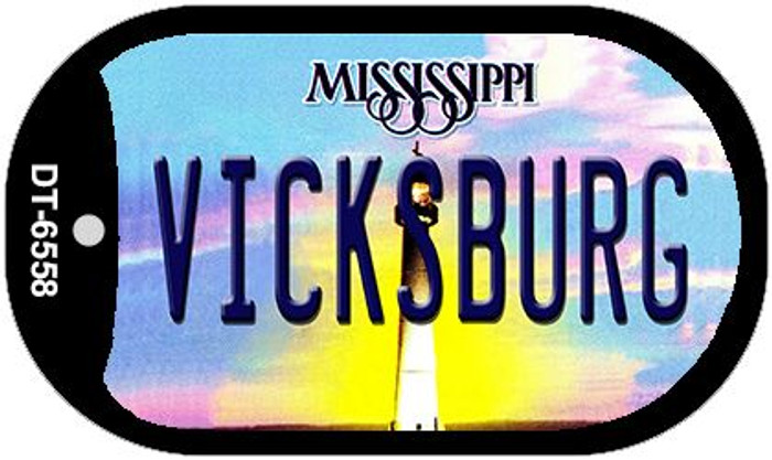 Vicksburg Mississippi Novelty Metal Dog Tag Necklace DT-6558