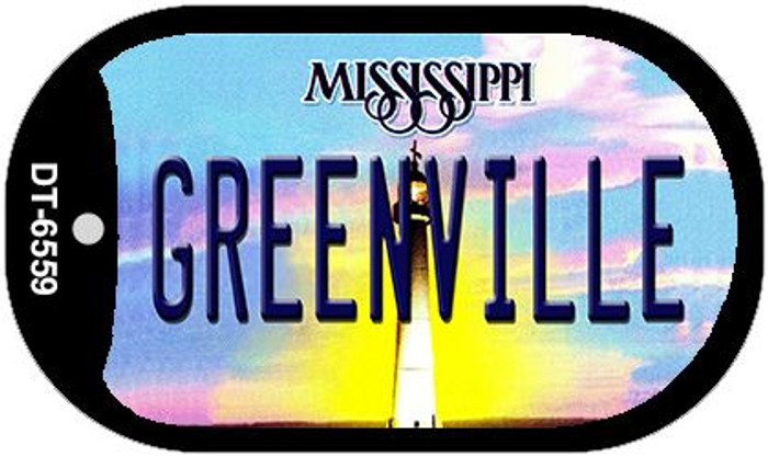 Greenville Mississippi Novelty Metal Dog Tag Necklace DT-6559